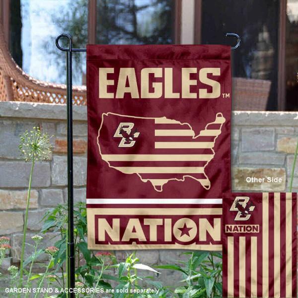 Boston College Eagles Nation Garden Flag