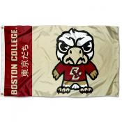 Boston College Eagles Tokyodachi Cartoon Mascot Flag