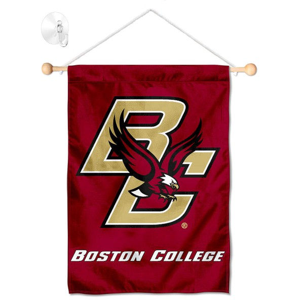 Boston College Eagles Window Hanging Banner with Suction Cup