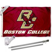 Boston College Flag and Bracket Flagpole Kit