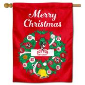 Boston Terriers Christmas Holiday House Flag