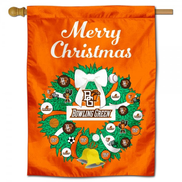 Bowling Green State Falcons Christmas Holiday House Flag