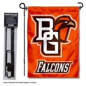 Bowling Green State Falcons Garden Flag and Holder