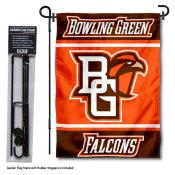 Bowling Green State University Garden Flag and Yard Pole Holder Set