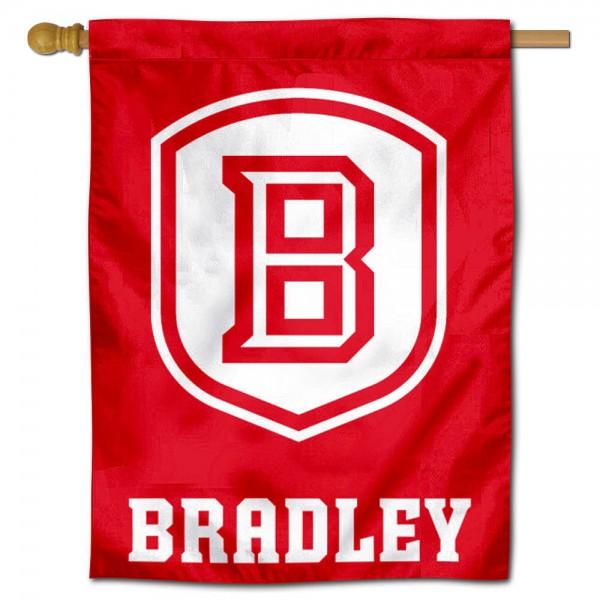 Bradley Braves B Logo House Flag