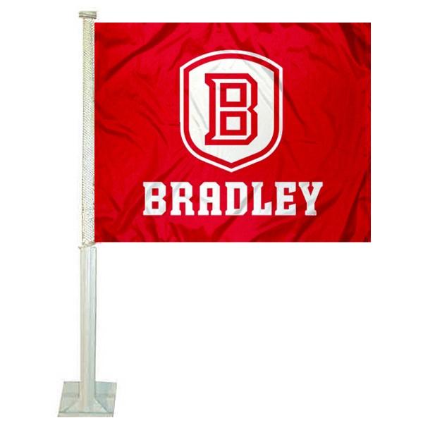 Bradley Braves Car Flag