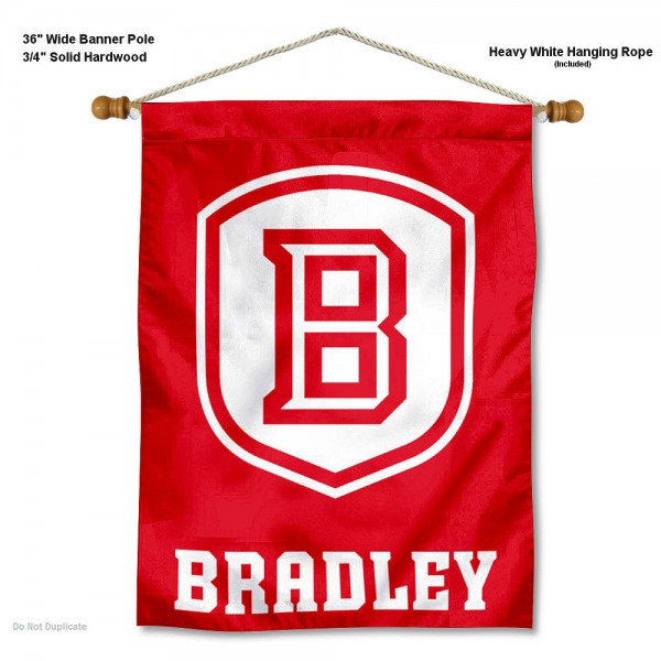 Bradley Braves Wall Hanging