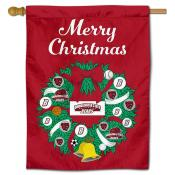 Bridgewater State Bears Christmas Holiday House Flag