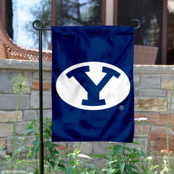 Brigham Young Blue Garden Flag