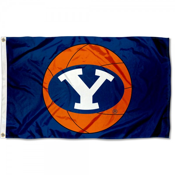 Brigham Young Cougars Basketball Flag