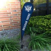 Brigham Young Cougars Mini Teardrop Garden Flag