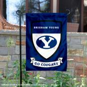 Brigham Young Cougars Shield Garden Banner