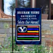 Brigham Young University Salute Our Heroes Double Sided Garden Flag