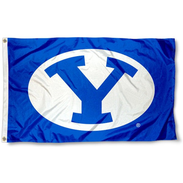 Brigham Young University Throwback Blue Flag