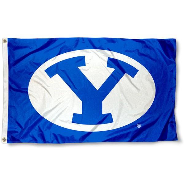 Brigham Young University Throwback Blue Flag