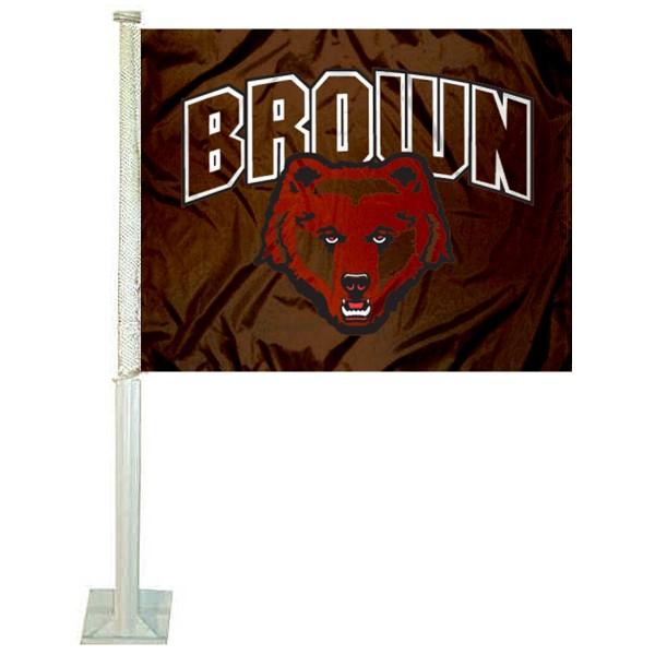 Brown Bears Car Flag