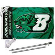 BU Bearcats Logo Flag and Bracket Flagpole Kit