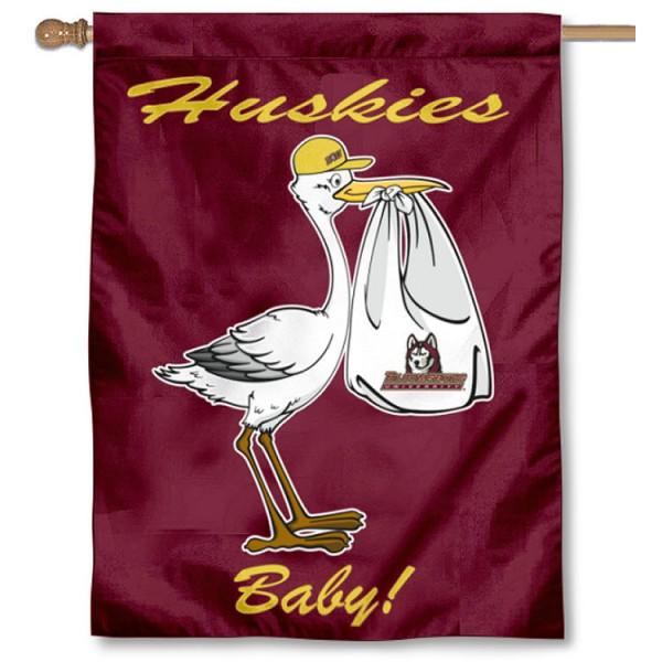 BU Huskies New Baby Banner