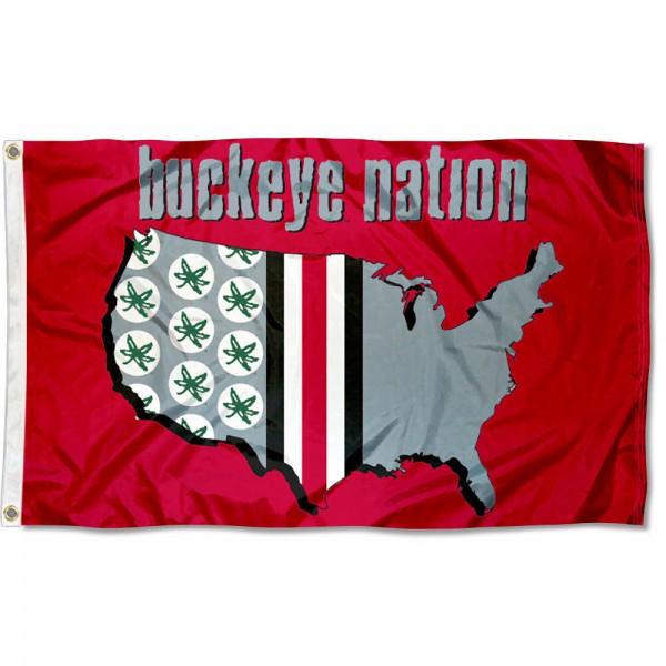 Buckeye Nation OSU Flag