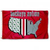 Buckeye Nation OSU Flag
