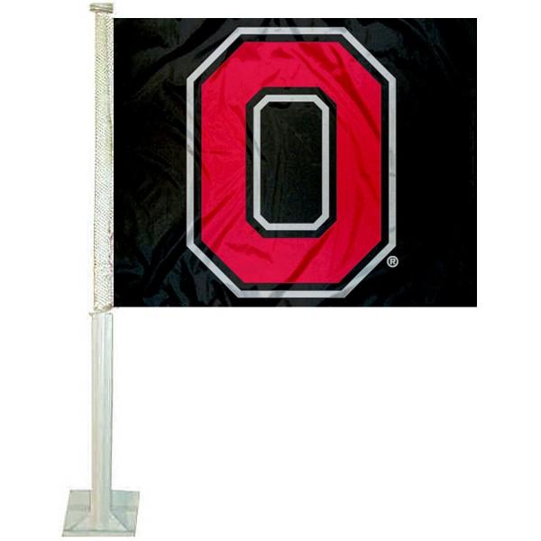 Buckeyes Black Car Flag