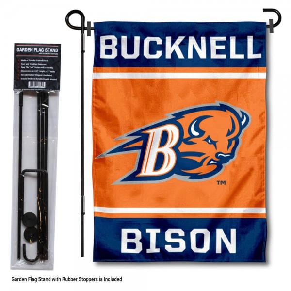 Bucknell University Garden Flag and Yard Pole Holder Set