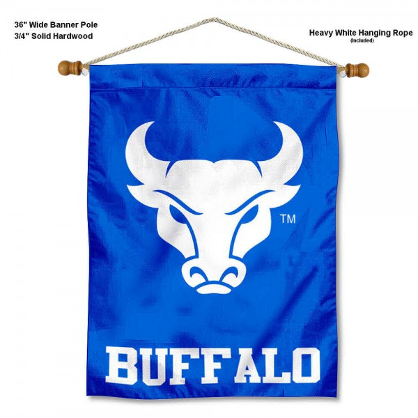 Buffalo Bulls Banner with Pole