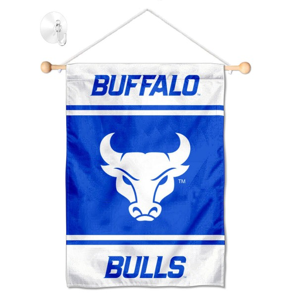 Buffalo Bulls Window Hanging Banner with Suction Cup