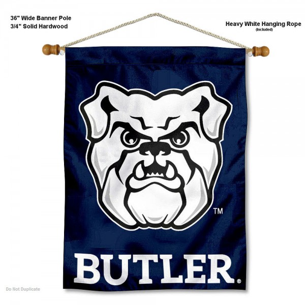 Butler Bulldogs Banner with Pole