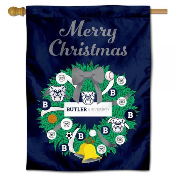 Butler Bulldogs Christmas Holiday House Flag