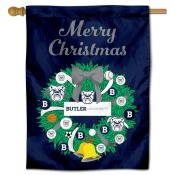Butler Bulldogs Christmas Holiday House Flag