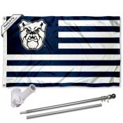 Butler Bulldogs Flag and Bracket Mount Flagpole Set