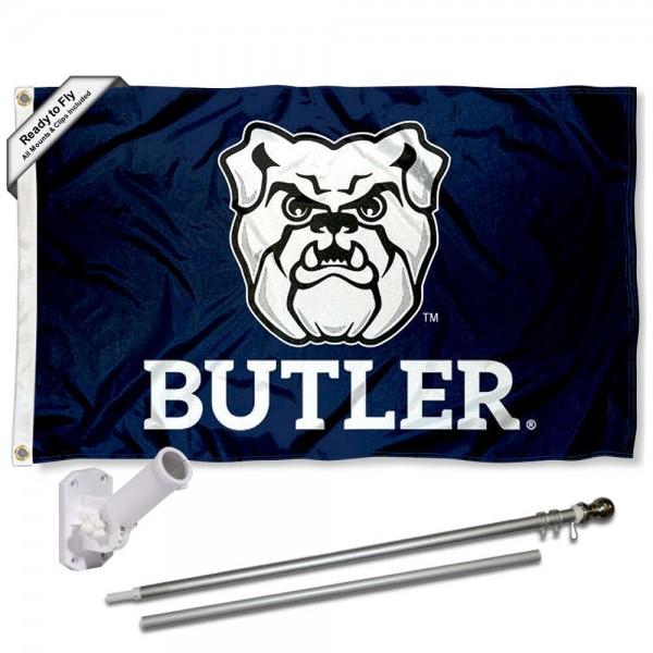 Butler University 3x5 Flag and Bracket Flagpole Set