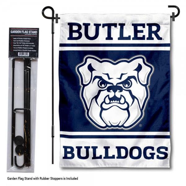 Butler University Garden Flag and Yard Pole Holder Set
