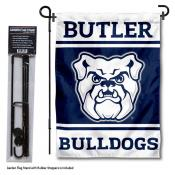 Butler University Garden Flag and Yard Pole Holder Set