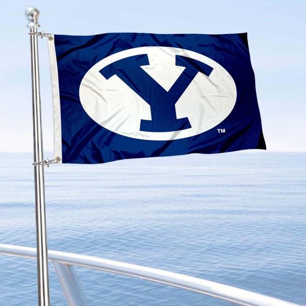 BYU Cougars Boat Nautical Flag
