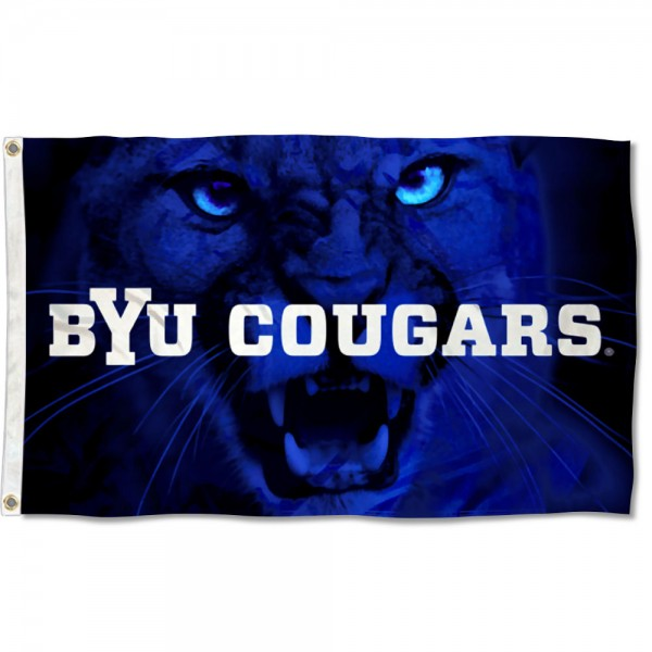 BYU Cougars Cougar Head Flag