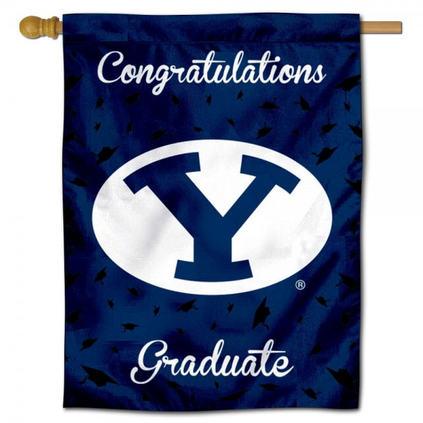 BYU Cougars Graduation Banner