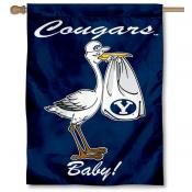 BYU Cougars New Baby Banner