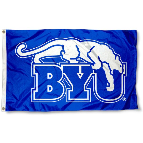 BYU Cougars Retro Royal Flag