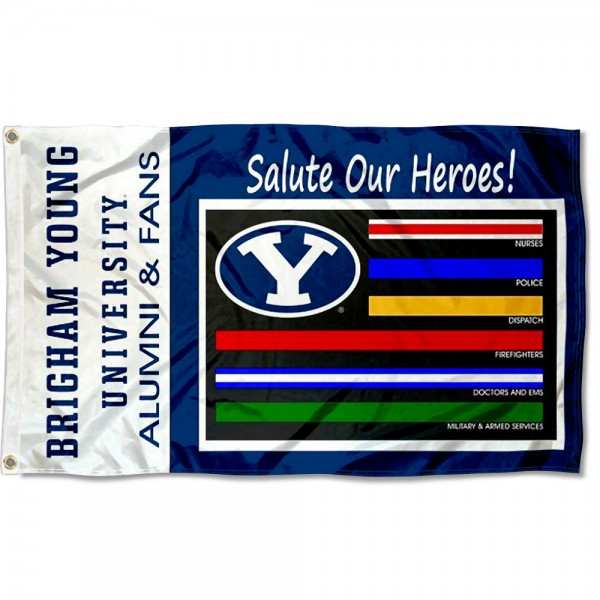 BYU Cougars Salute Our Heroes Flag