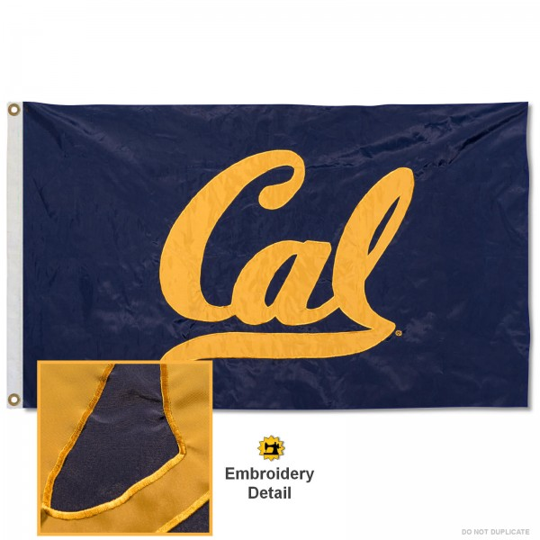 Cal Berkeley Golden Bears Appliqued Nylon Flag