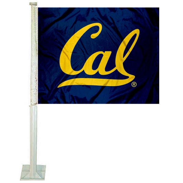 Cal Berkeley Golden Bears Blue Logo Car Flag
