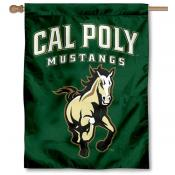 Cal Poly Mustangs Arched Logo House Flag