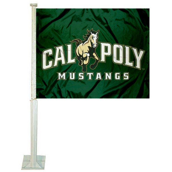 Cal Poly Mustangs Car Flag