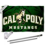 Cal Poly Mustangs Logo Flag and Bracket Flagpole Kit
