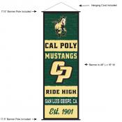 Cal Poly Mustangs Wall Banner and Door Scroll