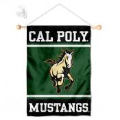 Cal Poly Mustangs Window Hanging Banner with Suction Cup