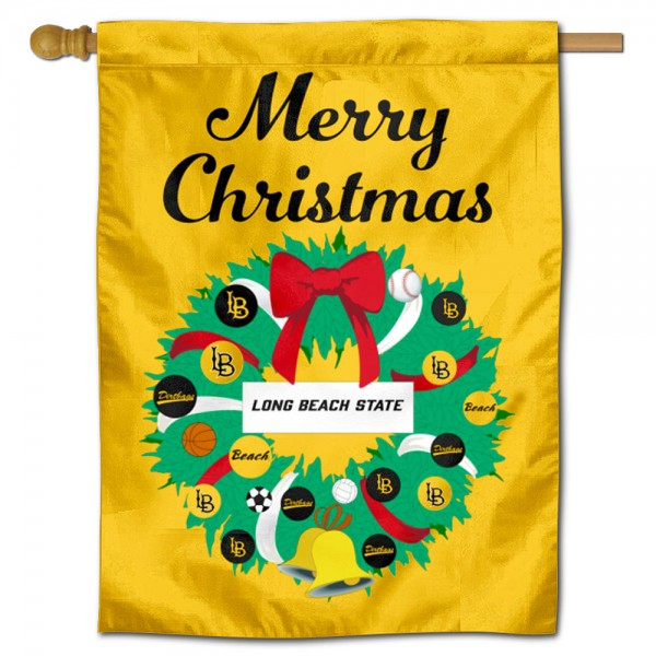 Cal State Long Beach 49ers Christmas Holiday House Flag