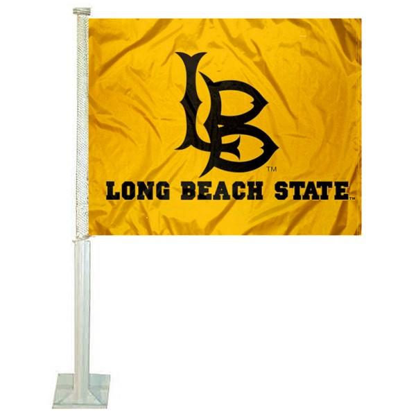 Cal State Long Beach Car Flag